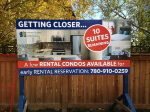 Edmonton West Real Estate Signs