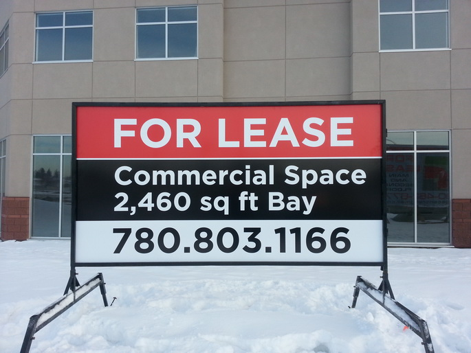 Commercial Real Estate Signs Spruce Grove