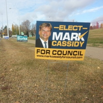 Election Signs Spruce Grove