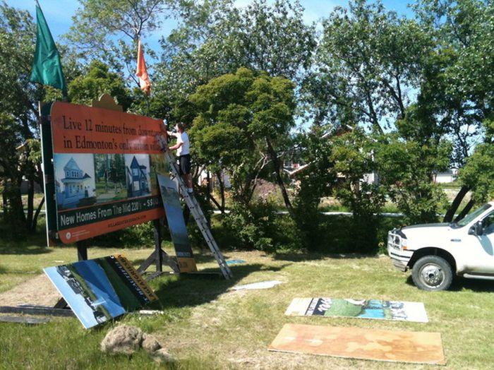 Leduc Sign Installation