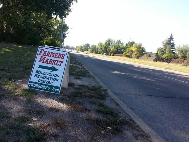 Edmonton North Sidewalk Signs