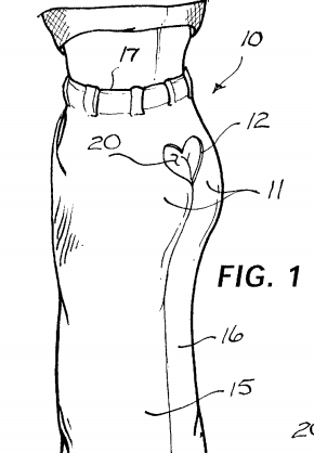 Amusing and funny pants patent