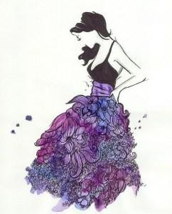 color violeta simbolo de la moda