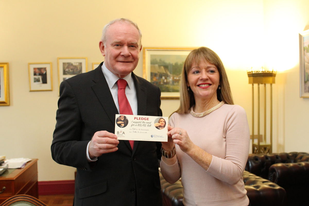 Martin McGuinness with Majella McAteer
