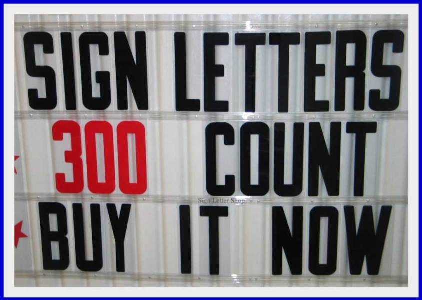 8 inch Flexible Plastic Outdoor Portable Marquee Sign Letters   eBay 8 inch Outdoor Marquee Flexible Plastic Sign Letters