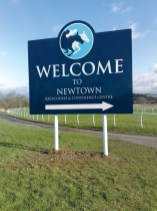 Shaped Aluminium Business Sign on posts
