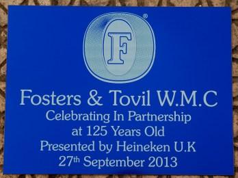 Engraved Blue Aluminium Business Sign