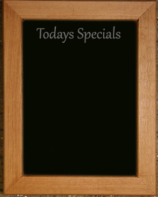 Personalised wooden framed black board gift