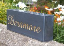 Thick Slate House Sign