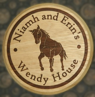 Wooden Circle House Sign