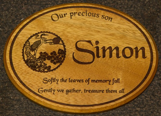 Oval Iroko Memorial- Line border