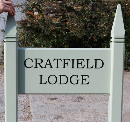 Painted Wooden Entrance Sign