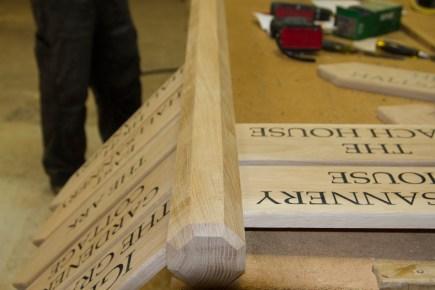 Wooden Finger post for estate and business signage