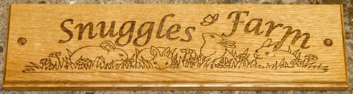 Oak sign in lucida calligraphy italic font and image - WA001 http://www.sign-maker.net/wooden/elegant-timber-signs.htm