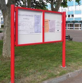 two-door-notice-board