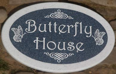 Oval House Sign