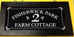 Hanging Black wooden fame with aluminium composite inner House Sign Ref - 1411.SV.013