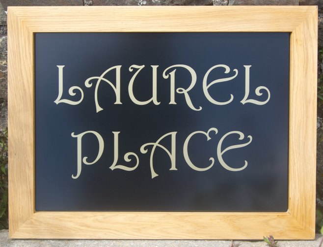 Oak Framed House Sign