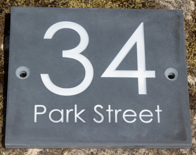 Slate Address Sign