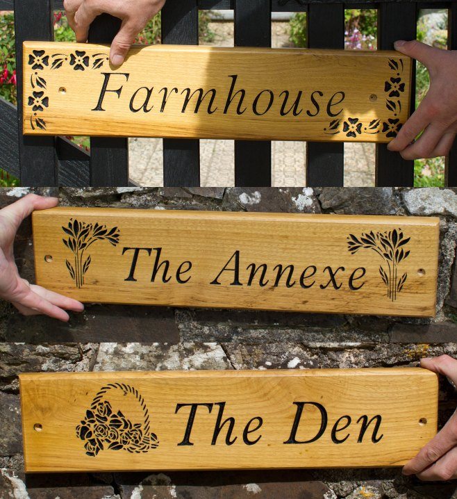 Wooden House Signs