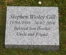 Silver Grey Granite Memorial Wedge