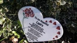 Personalised Corian love heart gift