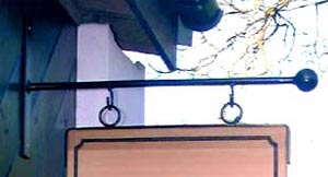 Ball End Hanging Bracket - https://www.sign-maker.co.uk/hanging-signage-and-brackets-105-c.asp