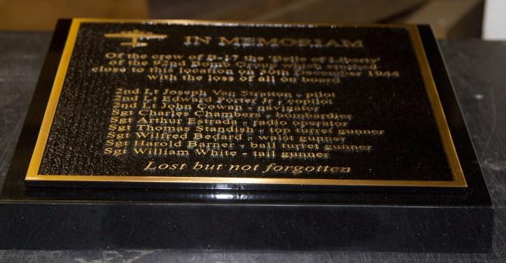 Cast Bronze Memorial Mounted on Black Granite Wedge
