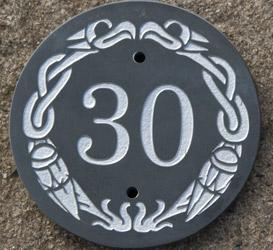 Slate Circle number sign