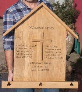 Wooden war memorials made by The Sign Maker