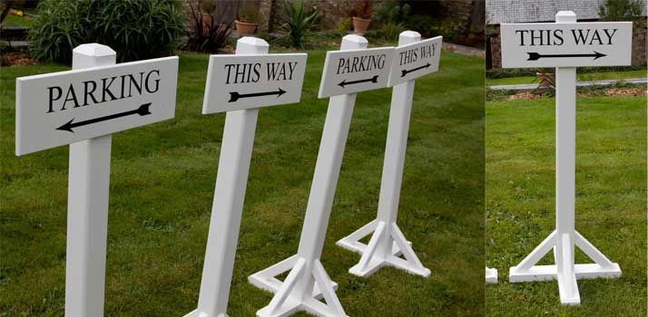 Event and wedding signage made by The Sign Maker, North Devon