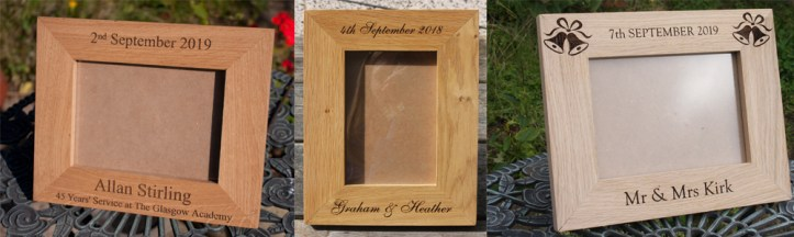 Hand crafted photo frames made by carpenters at The Sign Maker North Devon