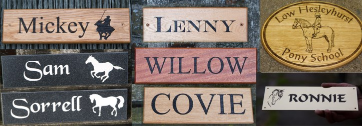 Beautiful, high quality stable nameplates crafted by The Sign Maker.