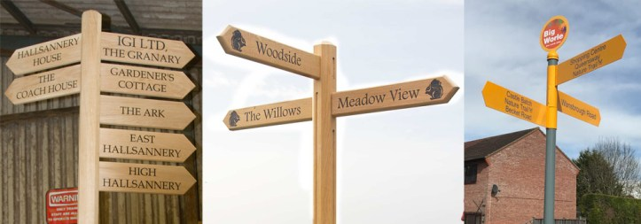 Finger posts can be essential for your business, here at The Sign Maker we have a selection to choose from.