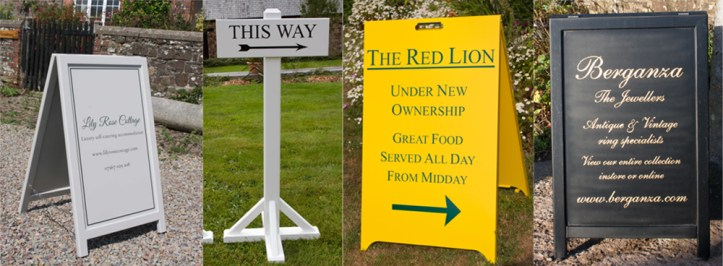 Free standing signs made by The Sign Maker in North Devon.