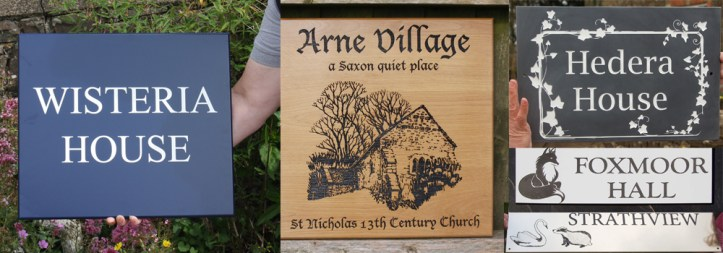 A range of beautiful house sign made by highly skilled craftsmen at The Sign Maker, North Devon.