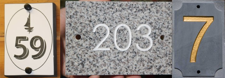 High quality stone number signs made by The Sign Maker.