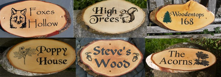 Beautiful, high quality, bespoke rustic slices made by The Sign Maker.