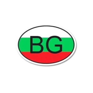 Стикер BG фон знаме