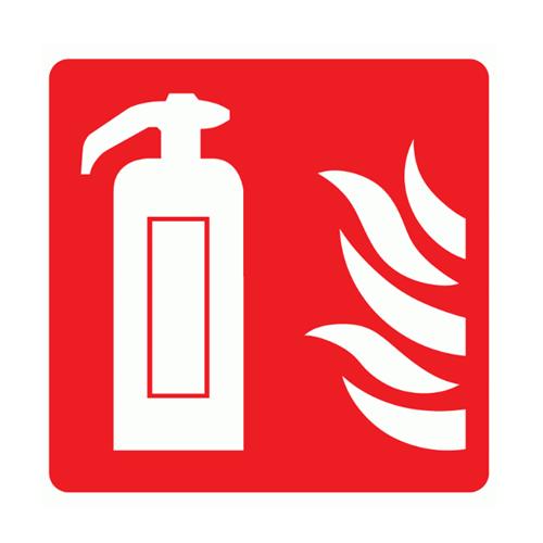 стикер пожарогасител