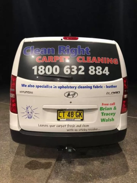 van back window signage by Chris Gill Signs 4 Business
