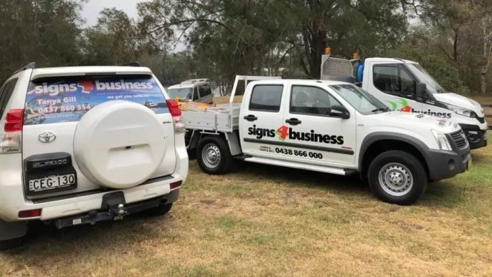 Chris Gill's Signs 4 Business vehicles