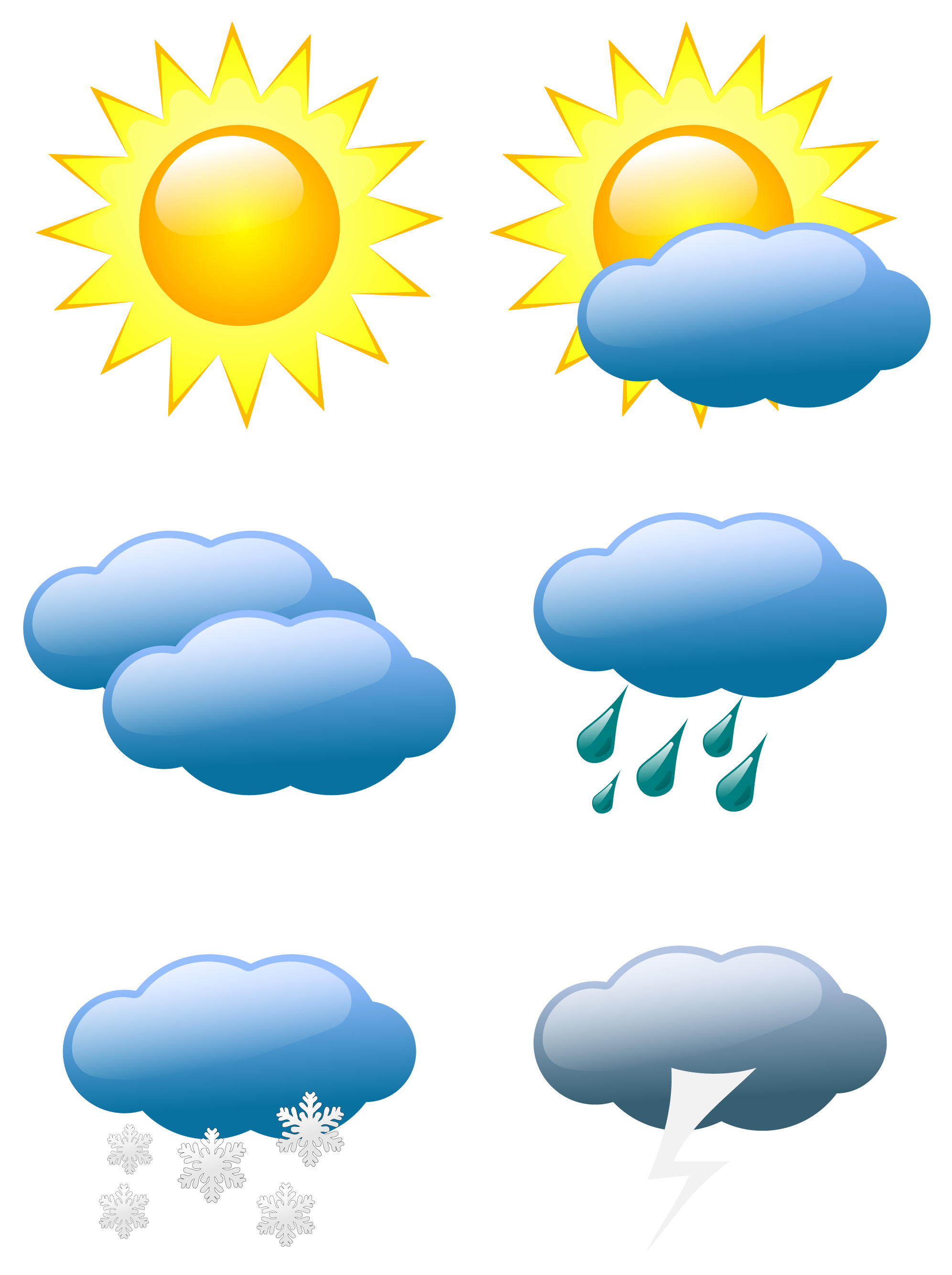 Free Weather Symbol Vectors