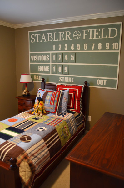 Personalized Baseball Scoreboard Tutorial