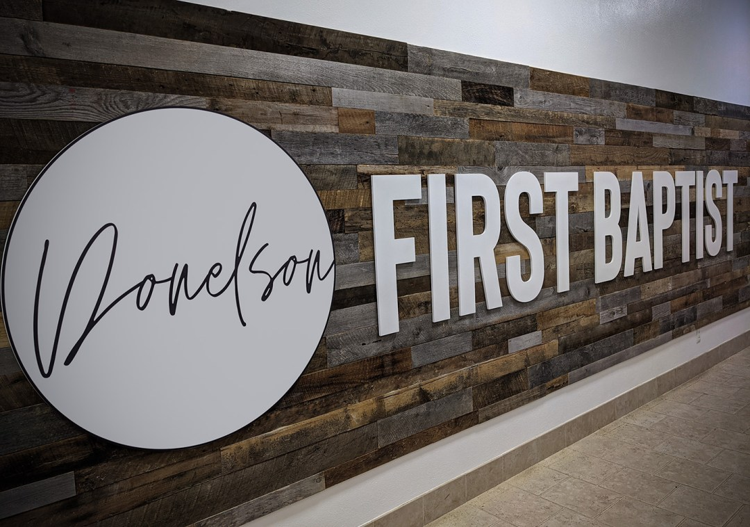 Donelson First Baptist_Large Logo Sign-2