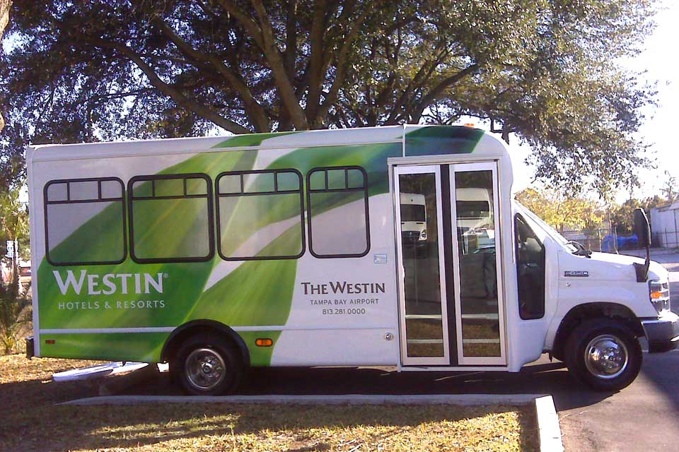 Hotel Airport Shuttle Vehicle Wrap