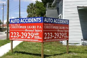 Double Faced Site Pole Sign
