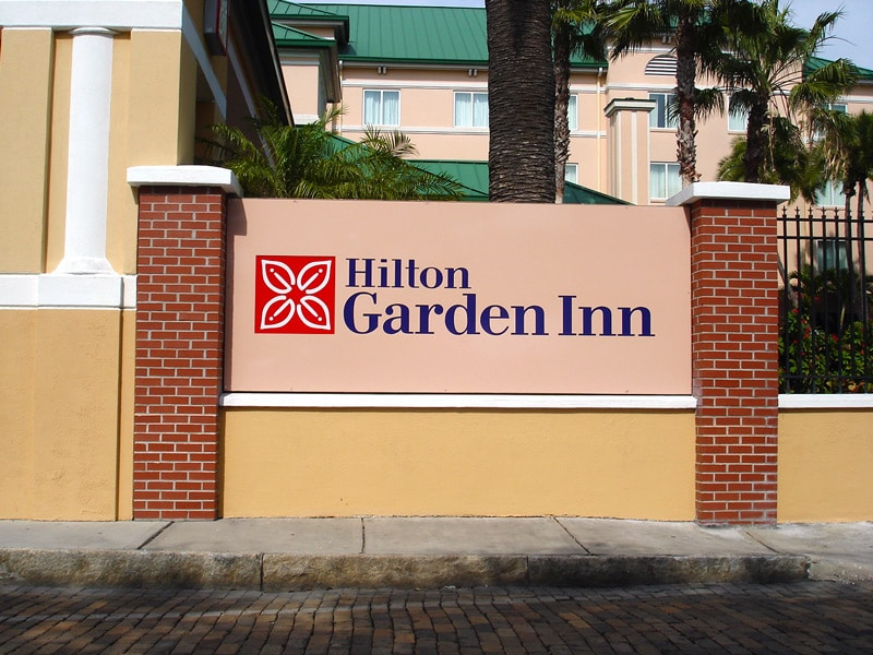 Hilton Hotel Outdoor Routed Sign Letters