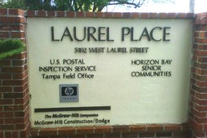 Monument Sign with Routed Sign Letters