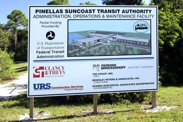 PSTA Site Pole Sign